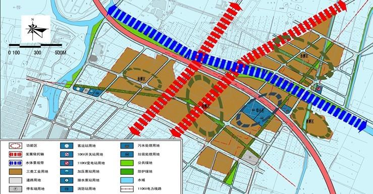 华美,联堤,东洋片区控制性详细规划功能结构分析图